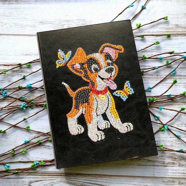 Cahier de notes | Motif chien - Broderiesdiamants.fr
