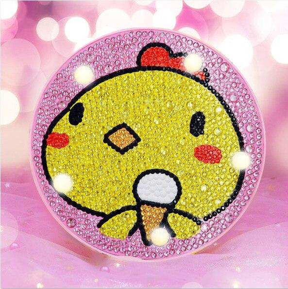 Lampe de chevet junior | Broderie diamants
