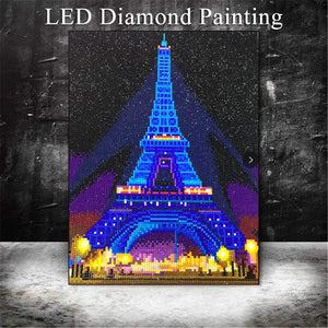 Tableau LED Tour Eiffel - Broderiesdiamants.fr