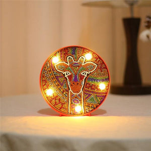 Veilleuse LED girafle - Broderiesdiamants.fr