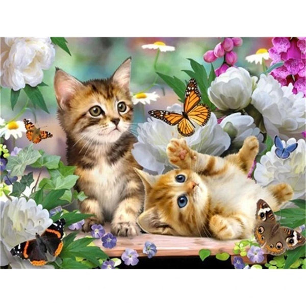 Le plaisir de chaton | Diamond painting chat