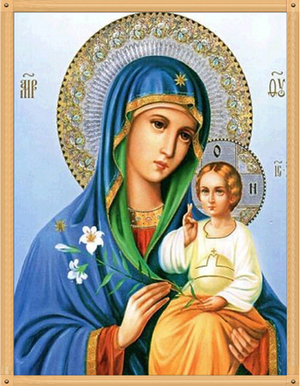 Marie et l'enfant Jésus - Kit broderie diamants - Broderiesdiamants.fr