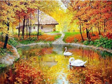 Diamond painting automne
