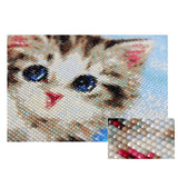 kit broderie mosaique chat