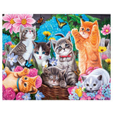 Les chats relax - Kit de broderie diamants - Broderiesdiamants.fr