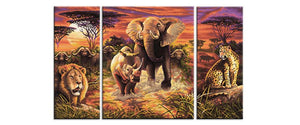 Safari trip - Kit broderie diamants - Broderiesdiamants.fr