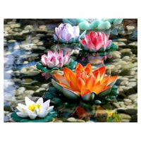 broderie diamant lotus