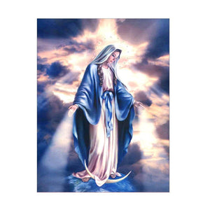 Vierge Marie - Kit broderie diamants - Broderiesdiamants.fr