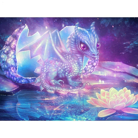 Broderie diamant dragon
