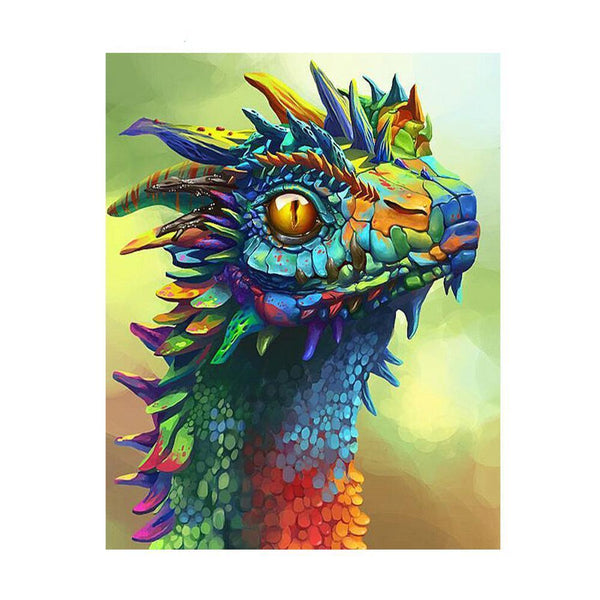 Dragon coloré - Kit broderie diamant - Broderiesdiamants.fr