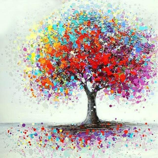 Un arbre en couleur | Broderie diamants
