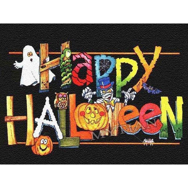 Halloween - Kit broderie diamants - Broderiesdiamants.fr