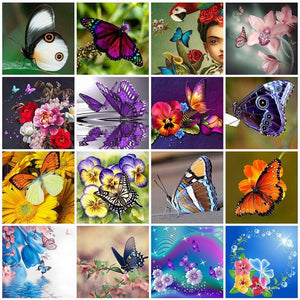 Butterfly | Broderie diamant papillon - Broderiesdiamants.fr