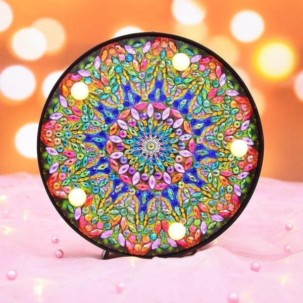 Éclairage LED mandala | Broderie diamants - Broderiesdiamants.fr