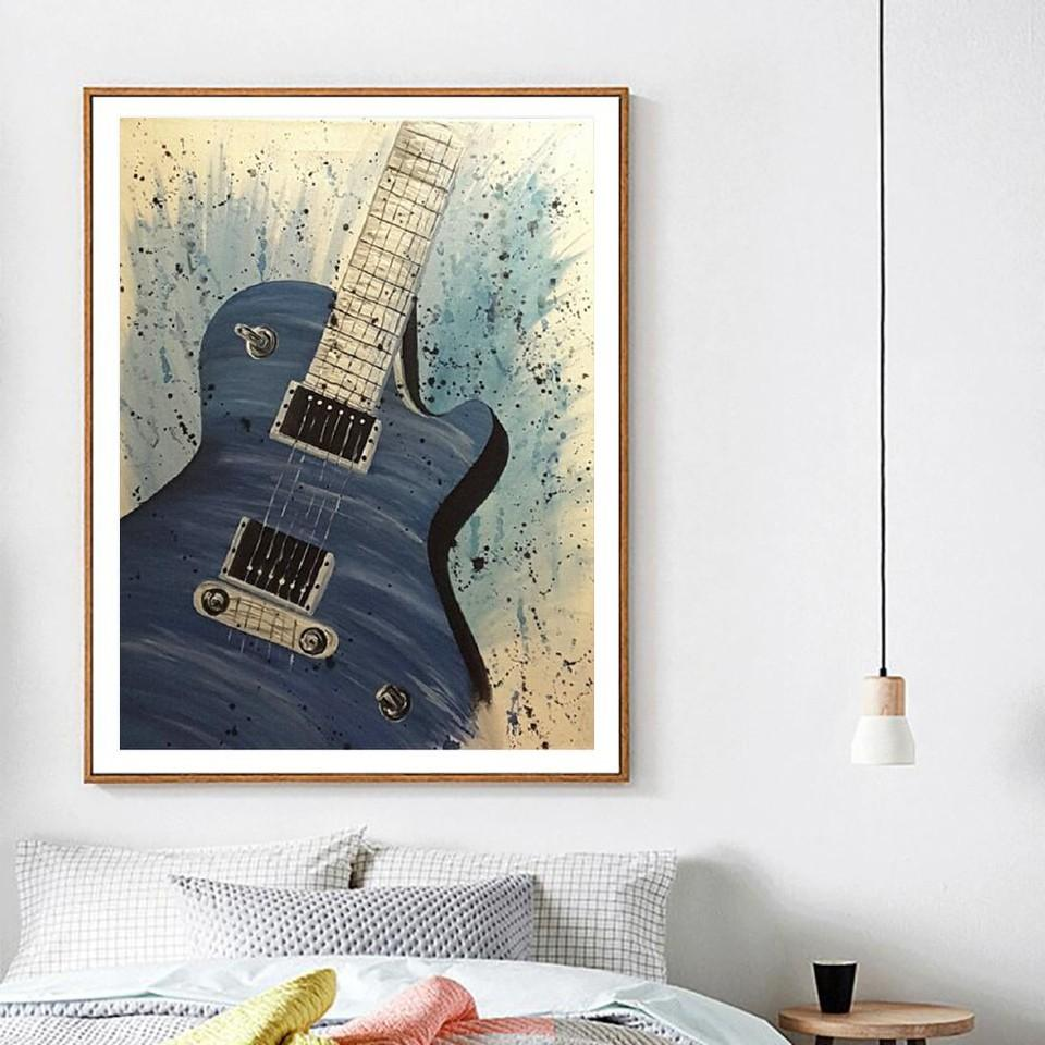 Diamond painting guitare