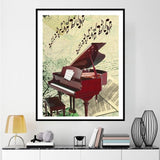 Diamond painting piano