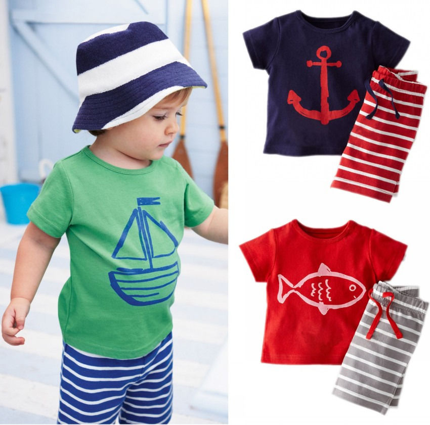 Koleshy Summer Cool Baby Boy Clothes Set Toddler Kids Boys Children