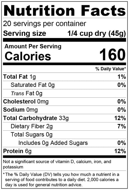 How many calories in a quarter cup of white rice