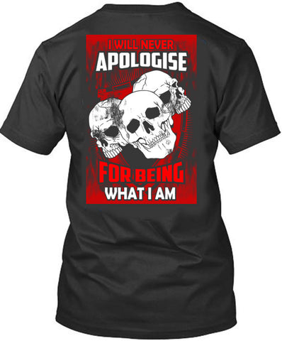 I will Never Apologize