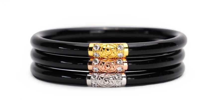 Three Kings Black All Weather Bangles