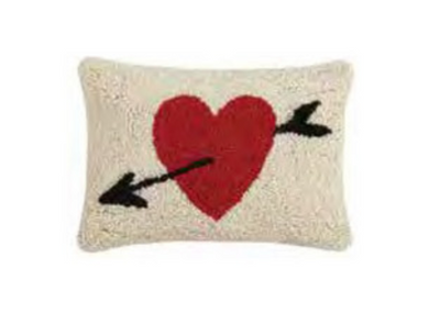Heart Cupid's Arrow Pillow