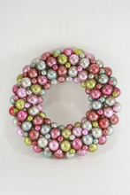 Vintage Encrusted Pastel Colored Ball Wreath