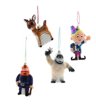 Retro Rudolph Character Ornaments