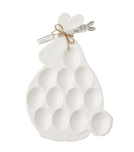 Bunny Deviled Egg Tray and Fork