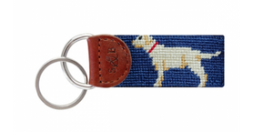 Yellow Lab Needlepoint Key Fob