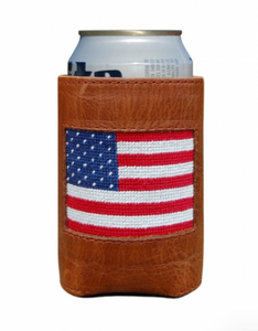 American Flag Needlepoint Can Cooler