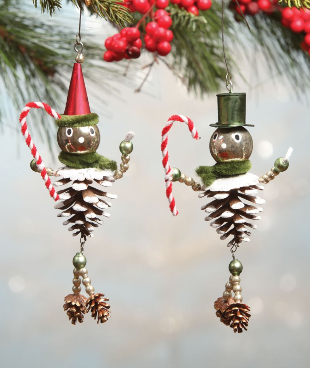 Pinecone Man Ornament