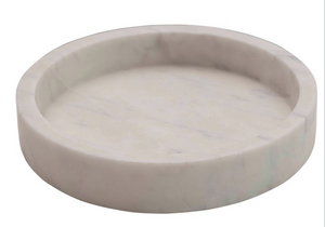 Round Carved Marble Tray