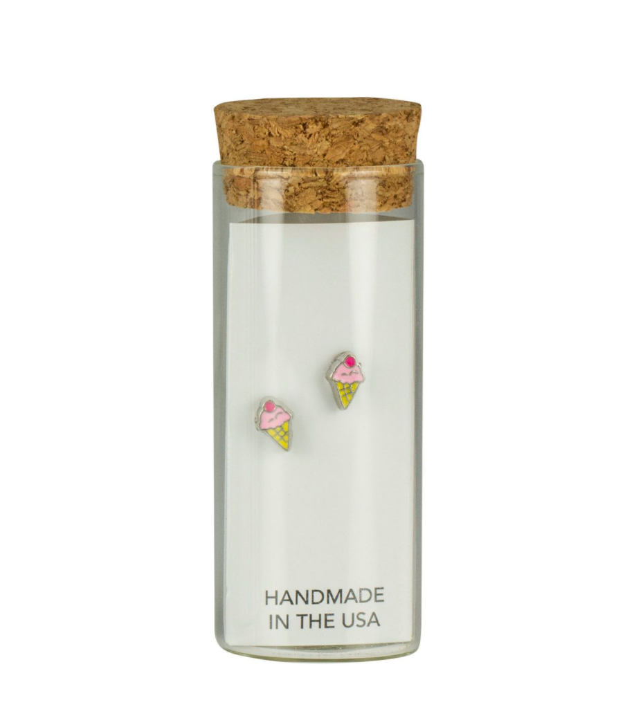 Stud Earrings in a Bottle
