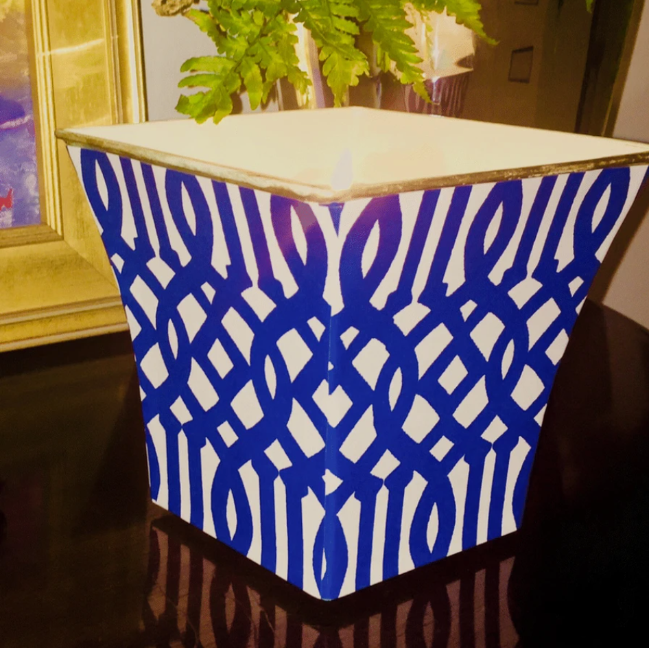 Fretwork Cachepot Candle
