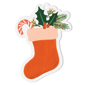 Stocking Die-Cut Gift Tag