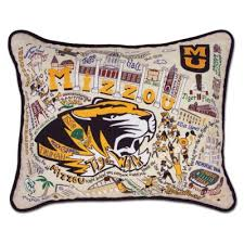 University of Missouri, Mizzou, Embroidered Pillow