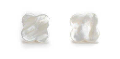 Mother of Pearl Quatrefoil Stud Earrings