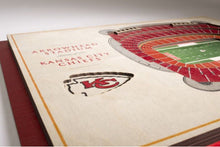 Kansas City Chiefs 3D Stadium View Wall Art