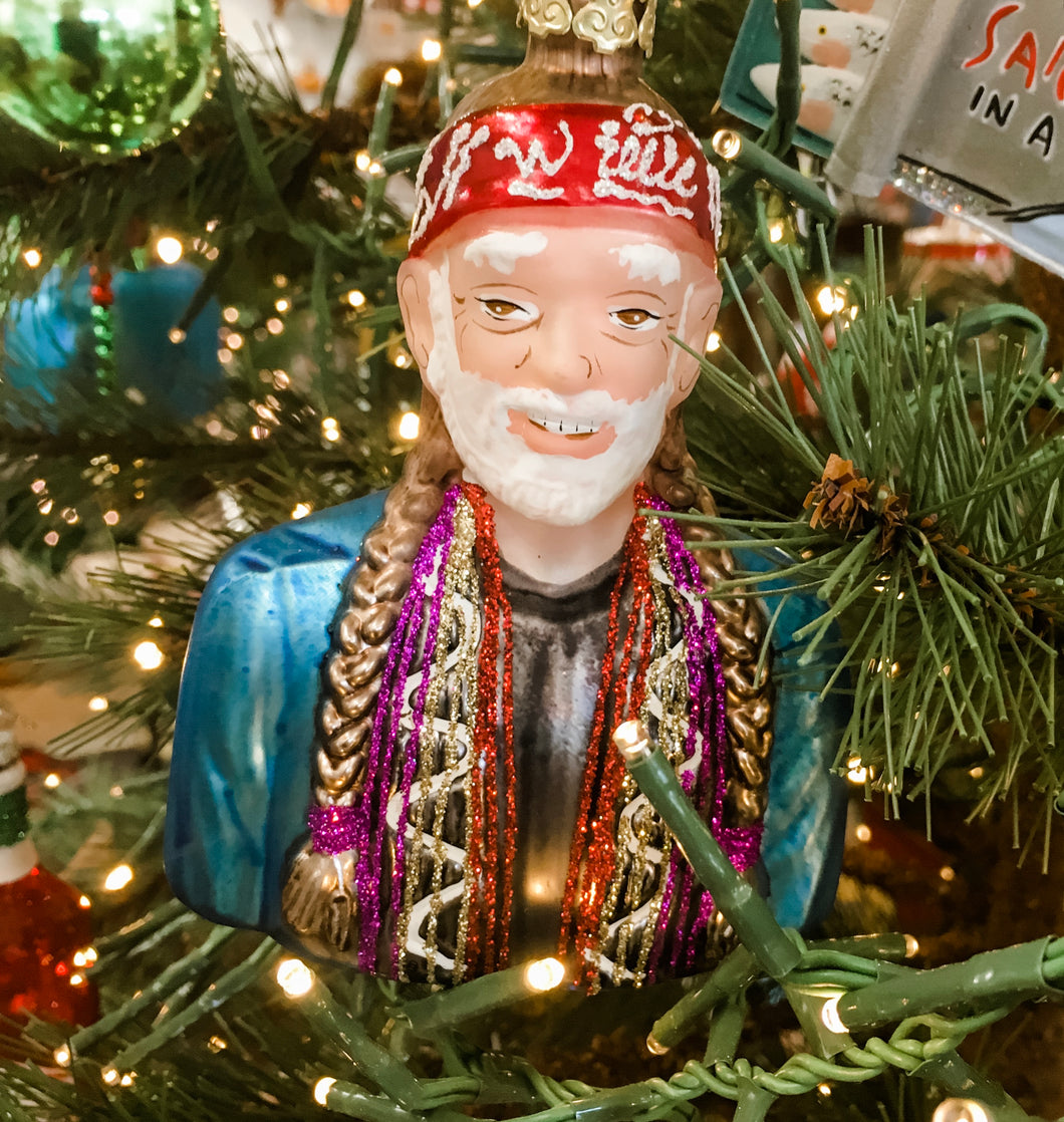 Willie Nelson Ornament