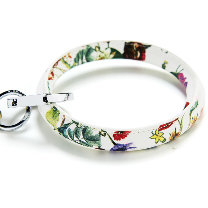 Luxe White Floral Key Ring