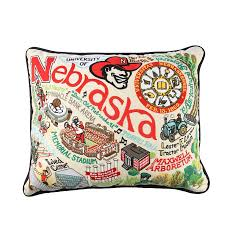 University of Nebraska Embroidered Pillow