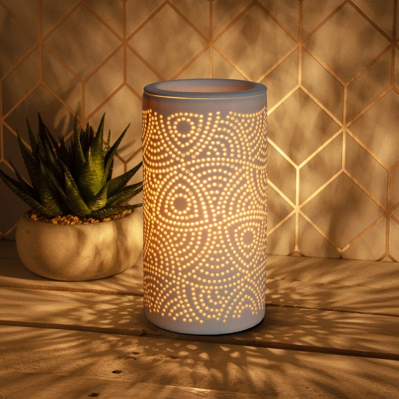 Wax Warmer With Lamp And Dimmer - Ornate Design 20cm