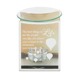 Glass Reflections of the Heart Wax Warmer