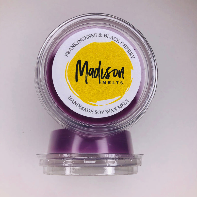 Frankincense and Black Cherry Soy Wax Melt Pot - Scented Soy Wax Melts | Wax Melt Warmers - MadisonMelts
