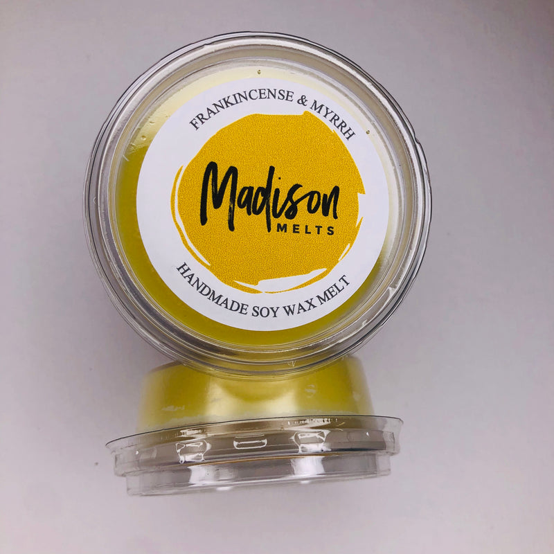 Frankincense and Myrrh Soy Wax Melt Pot - Scented Soy Wax Melts | Wax Melt Warmers - MadisonMelts