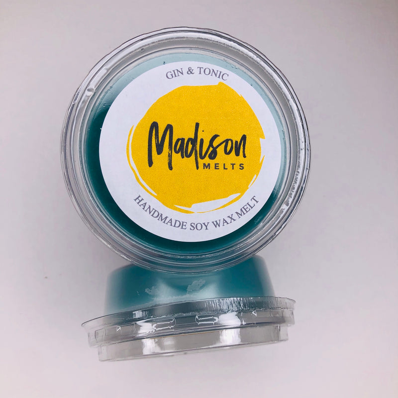 Gin And Tonic Soy Wax Melt Pot - Scented Soy Wax Melts | Wax Melt Warmers - MadisonMelts