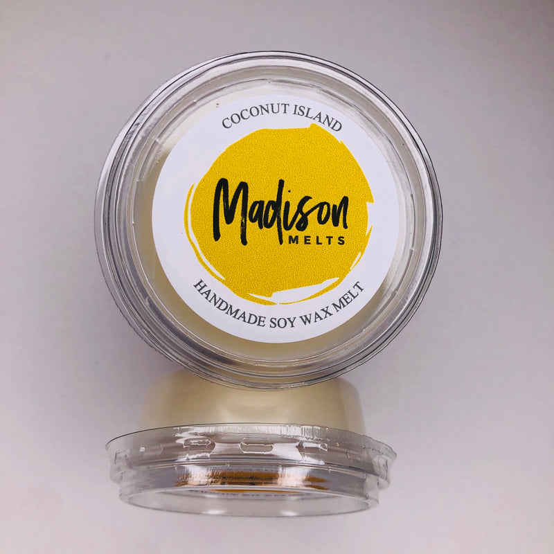 Coconut Island Soy Wax Melt Pot - Scented Soy Wax Melts | Wax Melt Warmers - MadisonMelts