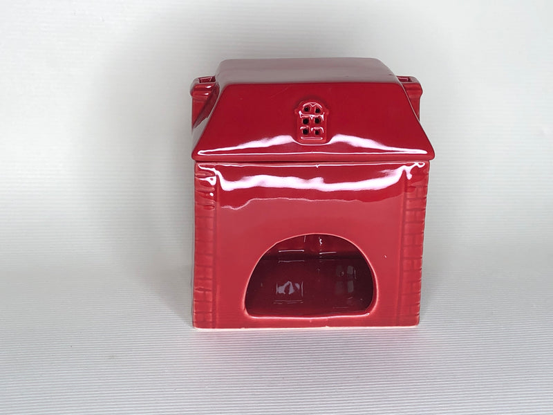 Red Christmas House Wax Warmer