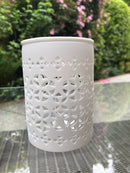 White Lattice Wax Warmer - Scented Soy Wax Melts | Wax Melt Warmers - MadisonMelts
