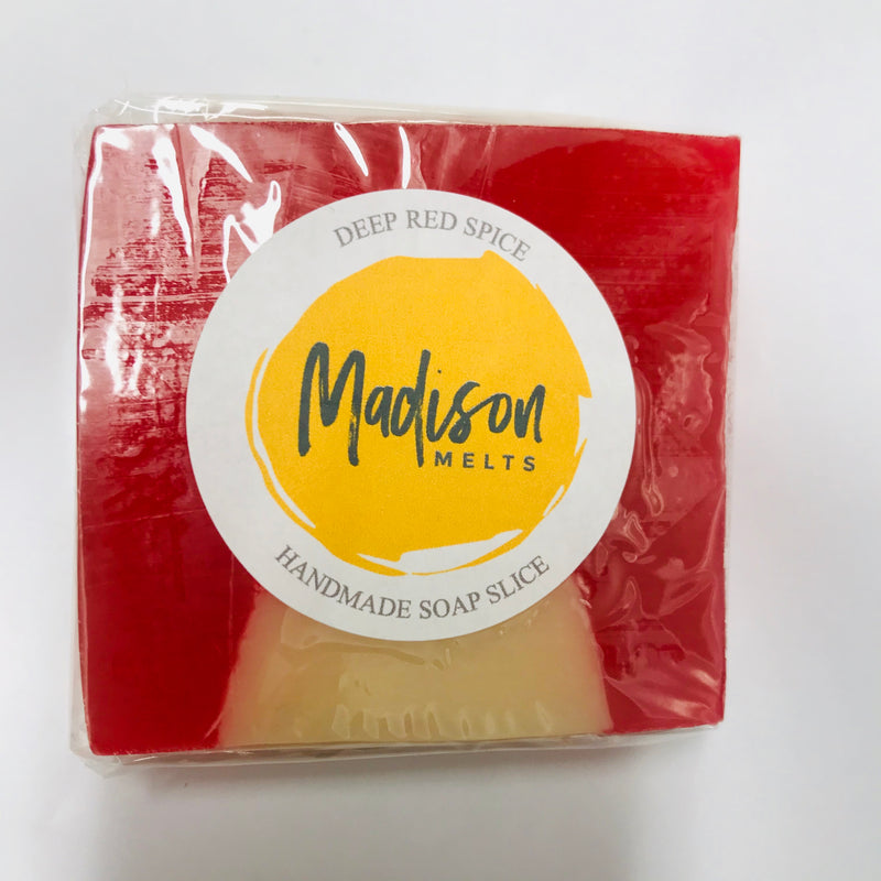 Deep Red Spice Fragranced Soap Slice - Scented Soy Wax Melts | Wax Melt Warmers - MadisonMelts